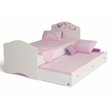Кровать классика Фея с рисунком и со стразами