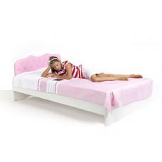 Кровать классика Princess 120*190 белое или роз изголовье