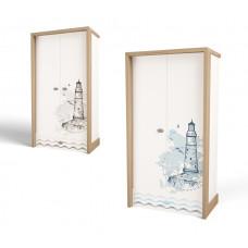 Шкаф 2х дверный MIX Ocean