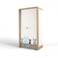 Шкаф 2х дверный MIX Bunny blue