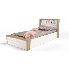 Кровать 3х размеров MIX Bunny pink c под.мех и мяг.изнож №6