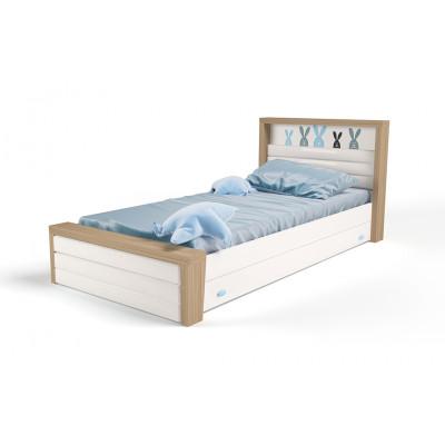 Кровать 3х размеров MIX Bunny blue с мяг.изножьем №4