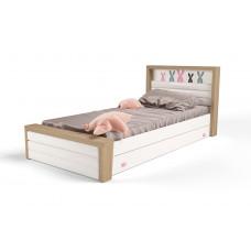 Кровать 3х размеров MIX Bunny pink с мяг.изножьем №4