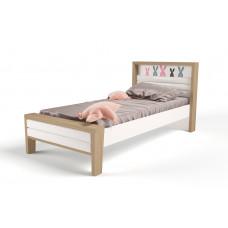 Кровать 3х размеров MIX Bunny pink с мяг.изножьем №2