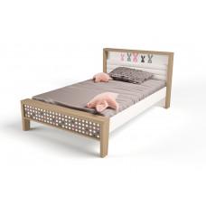 Кровать 3х размеров MIX Bunny pink №1