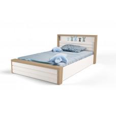 Кровать 3х размеров MIX Bunny blue c под.мех и мяг.изнож №6