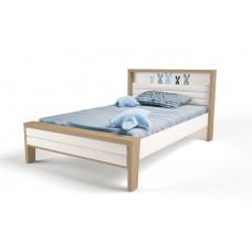 Кровать 3х размеров MIX Bunny blue с мяг.изножьем №2