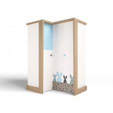 Шкаф угловой MIX Bunny blue