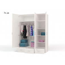Шкаф 3-х дверный Princess 3 с зеркалом