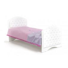 Кровать классика Princess №3, белое или роз изголовье