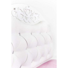Кровать классика Princess №2, белое или роз изголовье