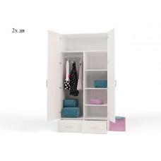 Шкаф 2-х дверный Princess 1 с зеркалом
