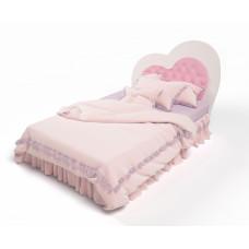 Кровать классика Lovely c мягкой вставкой