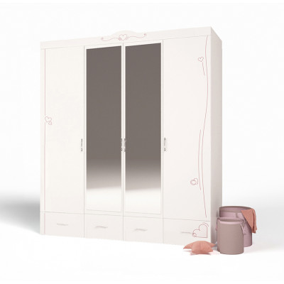 Шкаф 4-х дверный Lovely
