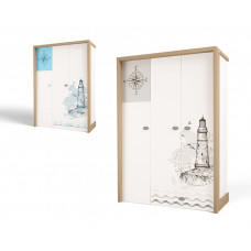 Шкаф 3х дверный MIX Ocean