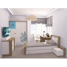 Кровать 3х размеров MIX Ocean с мяг.изножьем №4