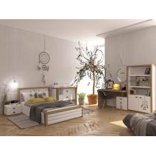 Кровать 3х размеров MIX Ловец Снов с мяг.изножьем №4