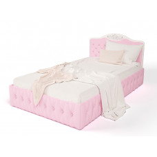 Кровать классика Princess 120*190 с каретной стяжкой на боковинах и подъемным механизмом